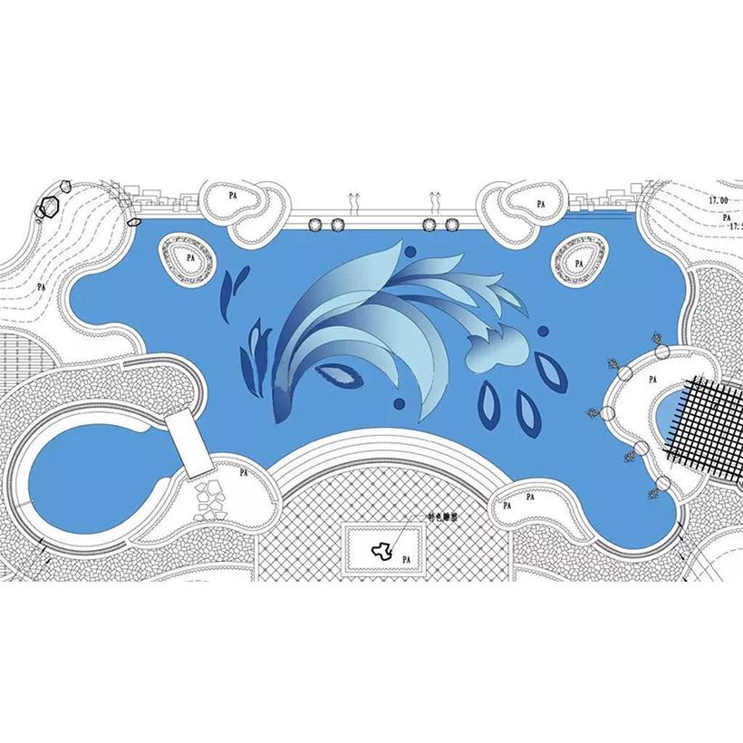 泳池马赛克拼图1